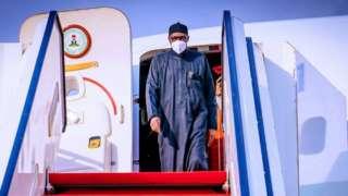 Muhammadu Buhari dey comot plane