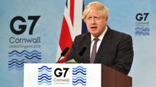Minisitiri w'intebe w'Ubwongereza Boris Johnson