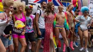Pride goers in London in 2019