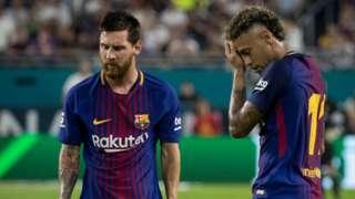 Lionel Messi and Neymar