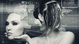 Mujer cyborg.