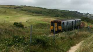 St Ives branch line train
