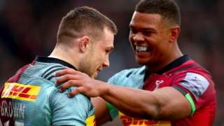 Mike Brown and Nathan Earle celebrate