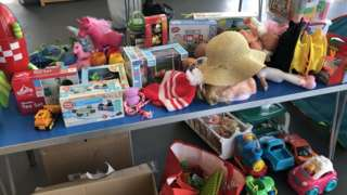 Some of the toys donated to Brimble Hill School