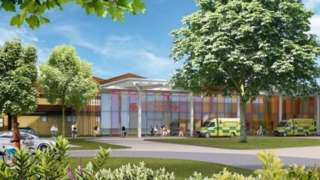 Artist's impression of the planned Emergency Centre in Shrewsbury