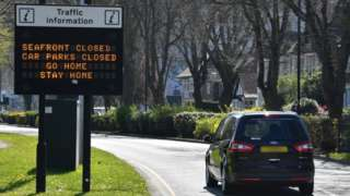 Drivers in Southend are told to go home by a sign