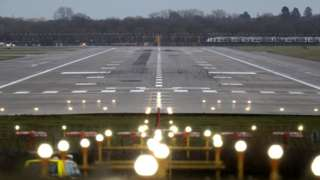 The runway at Gatwick Airport