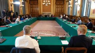 Prime Minister Boris Johnson chairing a cabinet meeting at the Foreign Office
