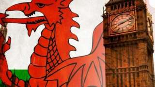 Welsh flag and Big Ben
