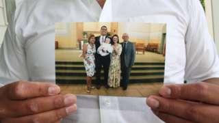 Tony Vargas with family