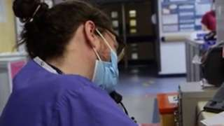 NHS staff in hospital