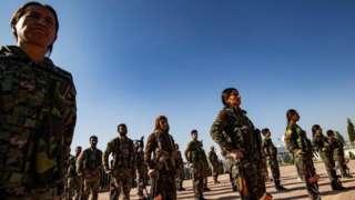 Сахрана курдског лидера Хеврина Калафа у граду Дерику