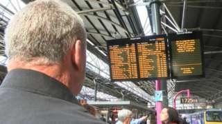 A train information board