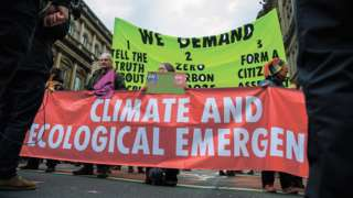 Climate change protest in Scotland