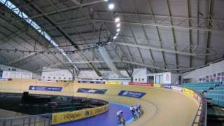 General view training session at the Manchester Velodrome