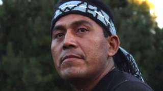Alberto Curamil, a Chilean indigenous leader of the Mapuche community