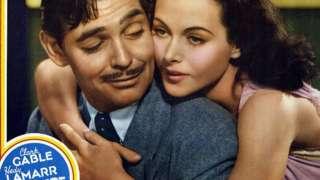 Lamarr com Clark Gable