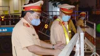 Policemen in Da Nang