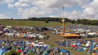 BoomTown Fair campsite