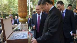 Путин и Си Цзиньпин на саммите Совещания по взаимодействию и мерам доверия в Ази