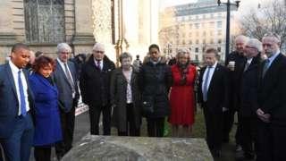 Families at memorial