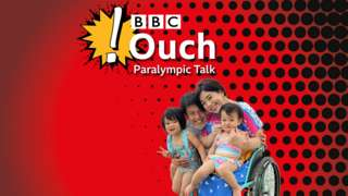 BBC Ouch logo with a red background