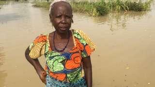 Mallama Habiba inside her farm wey food destroy