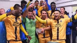Sutton players celebrate