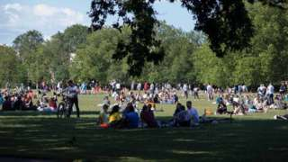 Groups in the park