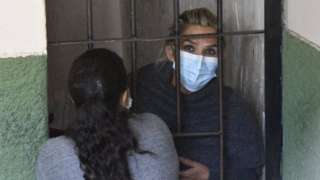 Jeanine Áñez en la cárcel.