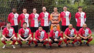 Old Wulfs' 19-18 penalty shoot-out win earned them a second-round JW Hunt Cup meeting with Shifnal.