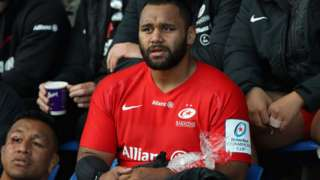 Billy Vunipola ices an arm injury