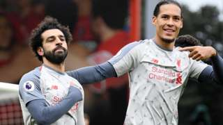 Mo Salah and Virgil van Dijk