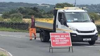 Porthmadog bypass closed