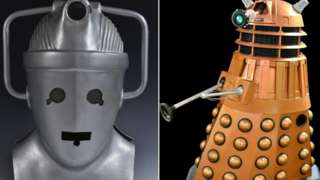 Cyber Man and dalek