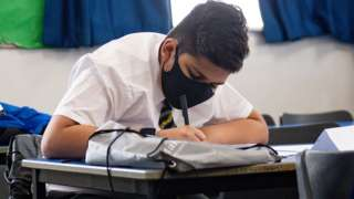 Student wearing a mask during lessons