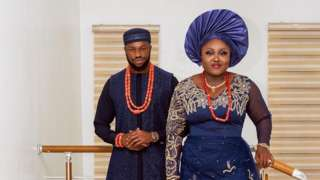Stan Nze and e wife blessing