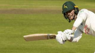 Jake Libby in action for Nottinghamshire