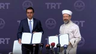 Kanalın kuruluşu Diyanet İşleri Başkanı Ali Erbaş ve TRT Genel Müdürü İbrahim Eren tarafından imzalanan bir protokolle karara bağlandı