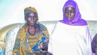 Ruth Pogu and her mama