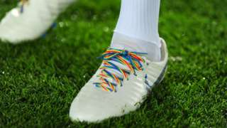 Leroy Fer of Swansea City wore Rainbow Laces in the Championship match between Swansea and West Brom on November 28th, 2018.