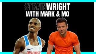Mo Farah and Mark Wright