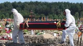 Похороны умершего от ковида в Санкт-Петербурге, июнь 2021