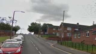 Looking along Wood Street, Barnsley