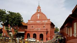 Malaysia's iconic Christ Church in the city of Malacca