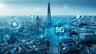 5G graphic over London