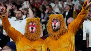 Two of the three lions