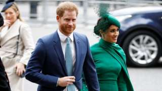 Duke and Duchess of Sussex at Westminster Abbey