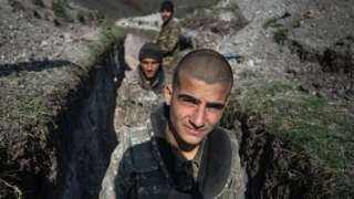 армянские солдаты в Карабахе