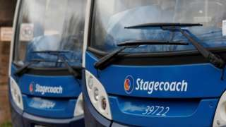 Two Stagecoach buses